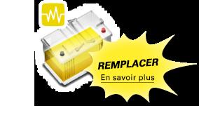 Une batterie jaune signifie qu'elle doit être remplacée