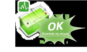 Zielony kolor akumulatora oznacza pełną sprawność