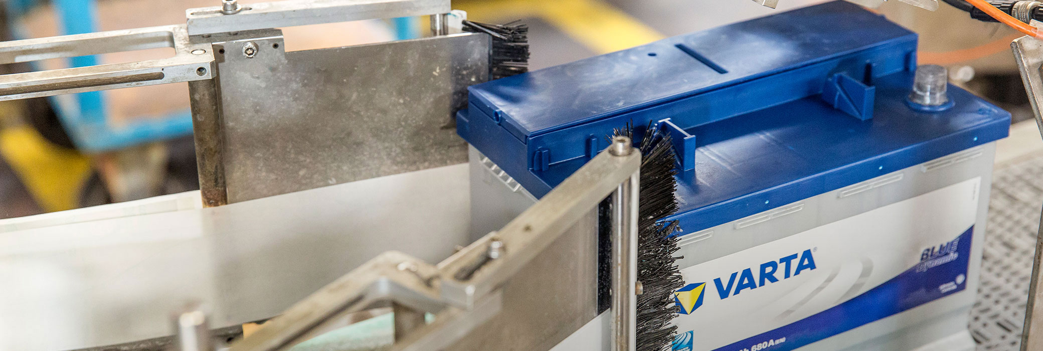 VARTA® battery in a machinery being produced
