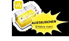 Eine gelbe Batterie bedeutet, dass die Batterie ausgetauscht werden muss